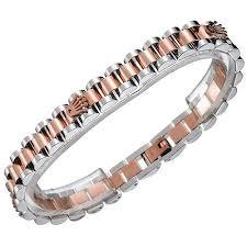 bracelet rolex images Rolex president silver pink gold bracelet engraved logo women jpg