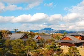 traditional japanese house layout traditional japanese house designs in osaka japan stock photo