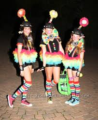cute and original girls group costume bringing the clown back