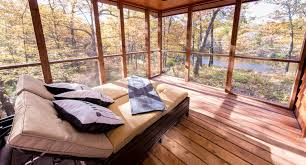 tiny house rental canoe bay escape village offers tiny house sites and rentals