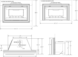 Gas Inserts For Fireplaces by Gas Fireplace Insert Rough Opening Dimensions Standards Csa