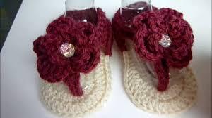 newborn pattern video crochet baby girl flower sandals 3 6 months video tutorial