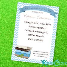 build a library baby boy shower invitation kindred creations