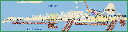 galveston island map galveston information