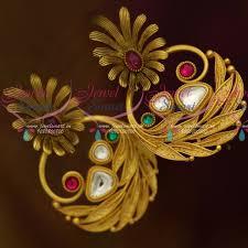 stylish gold earrings er11436 stylish gold look trendy jewellery big size earrings