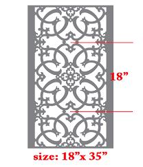 stencils for home decor iron work allover pattern wall stencil home decor thumbnail 1