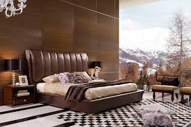 wooden wall modern luxury bed with modern white carpet can add the