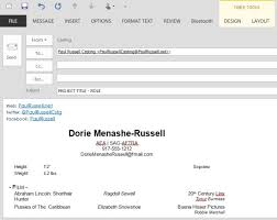 What To Write In Email With Resume Attached Best Solution On How To Send An Actor Headshot U0026 Resume Via Email