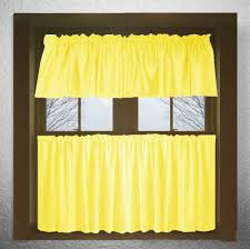 Kitchen Cafe Curtains Solid Lemon Yellow Kitchen Cafe Tier Curtains