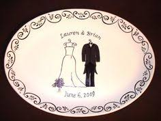 and groom plates just married plate ceramic ring holder eco friendly by ceraminic