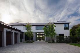 textured front facade modern box home inspiring mix of modern and traditional in pacific palisades dream