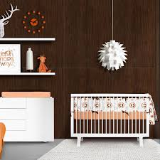 billie 4 piece crib bedding set orange white olli u0026 lime