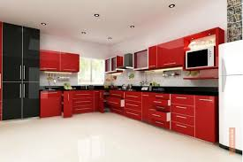 Red Cabinets In Kitchen by Kitchen With Granite Counter Top Design Photos