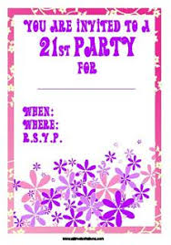 free 21st birthday party invitations print at home designs
