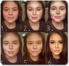 Makeup Contour results of highlighting contouring makeup