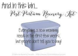 Postpartum Gift Basket Best Baby Shower Gift Ever The Post Partum Recovery Kit 15