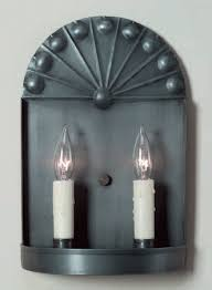 Tin Wall Sconce Rustic Tin Wall Sconces Sconce Colonial Handmade Lighting