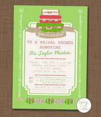 honeymoon bridal shower items similar to travel bridal shower invitation printable