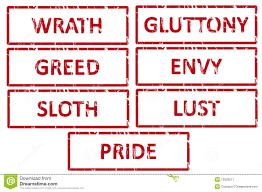 seven deadly sins pride envy gluttony lust wrath anger greed sloth 7 deadly sins