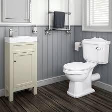 Cloakroom Vanity Sink Units 440mm Melbourne Clotted Cream Floor Standing Vanity Unit Soak Com