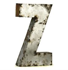 Metal Letters Home Decor Industrial Rustic Metal Small Letter Z 18 Inch Kathy Kuo Home
