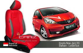 mobil honda jazz desain jok mobil paling top no 1 desain jok mobil warna merah