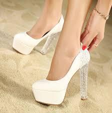 wedding shoes high women white suede glitter heels platform stiletto