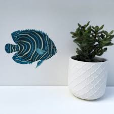 chameleon wall art wall stickers wall decals for kids turquoise fish wall sticker blue fish decal tropical fish wall sticker turquoise fish