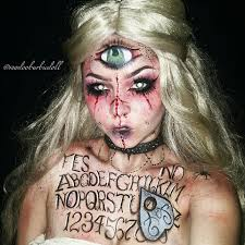 halloween creepy makeup madame wija ouija board mistress ig voodoobarbiedoll makeup