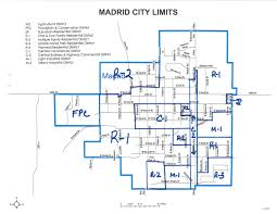 multiple family home plans map of madrid zoning districts city of madrid