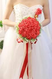 Red Wedding Bouquets Buque De Noiva 2016 New The Bridal Bouquet Sweet Romantic Pink