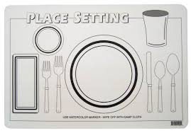 table setting placemat place setting placemat 031088 details rainbow resource center inc