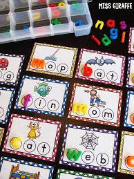 center ideas miss giraffe s class bottle cap cvc word building centers