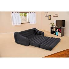 Lit Bed Up Intex Queen Inflatable Pull Out Sofa Bed Walmart Com