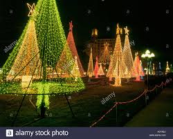lights go up on trees in springs national