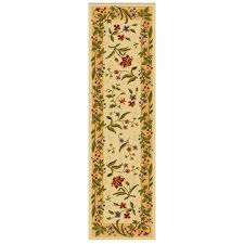 lowes rug runners mohawk home summer flowers beige rectangular