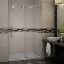 Shower Door Sdr978 Langham Completely Frameless Sliding Alcove Shower Door