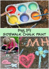 diy sidewalk chalk paint for end of summer make and takes