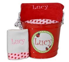 ladybug ribbon ladybug ribbon towel burp and gift set for