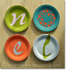 Decoration For Christmas Wall by Homemade Christmas Wall Decorations U0027noel U0027 Paper Plate Craft