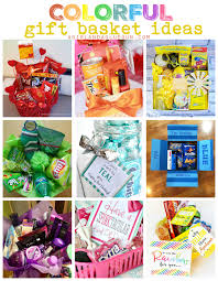 themed gift basket colorful gift basket ideas a girl and a glue gun