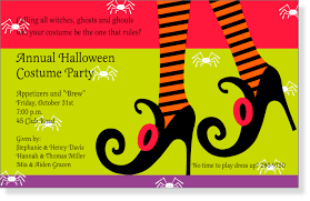 fun color schemes fun scary halloween party invitation design idea with red green and