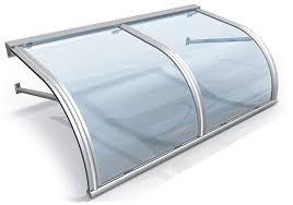 tettoia in plastica pensiline in plexiglass a curva adatte per scale tettoie ed