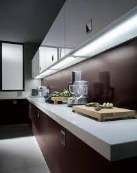 fluorescent lighting under kitchen cabinet modern