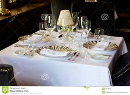 Formal Table Settings Formal European Cafe Table Setting Stock Photo Image Of