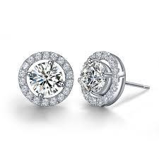 silver diamond earrings silver diamond earrings studs diamond stud earrings for men 0 50ct