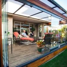 Transparent Patio Roof Retractable Glass Walls For Balconies And Sunrooms In Canada Lumon