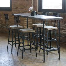 reclaimed wood pub table sets rustic iron and wood pub table coma frique studio c6ac89d1776b