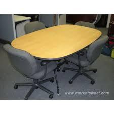 Herman Miller Boardroom Table 6 U0027 Oval Herman Miller Eames Meeting Conference Table U0026 Chairs