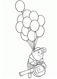 russell flying baloons disney coloring netart